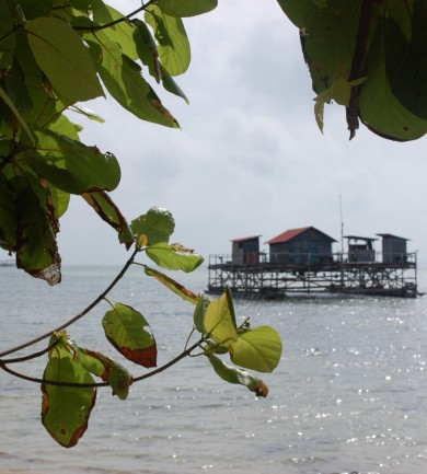 A teljes csend és nyugalom szigetén Indonéziában