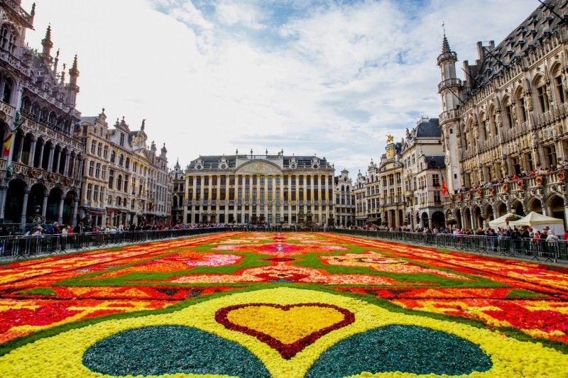 Virágszőnyeg (Tapis de Fleurs) a Grand Place-on